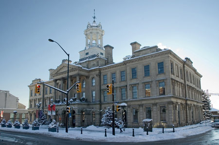Victoria Hall in winter